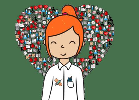 cosas de enfermeras corazón acerca de nosotros